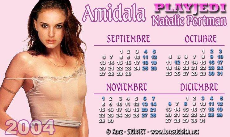 SithNET - La Tasca de Mos Eisley - Calendario 2004 Natalie Portman