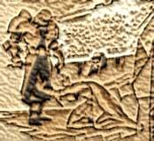 Antiguo grabado que muestra la sumisión de los Sith a los Jedis oscuros